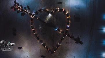 Фото РИА «Воронеж». Автомобилисты выстроили сердце из машин