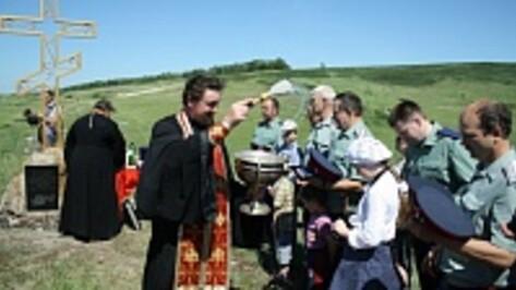 В Каменском районе освятили поклонный крест