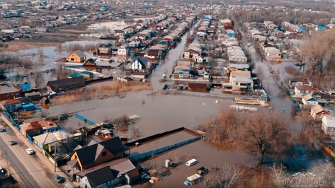 Паводок в Калаче Воронежской области сняли на видео с высоты