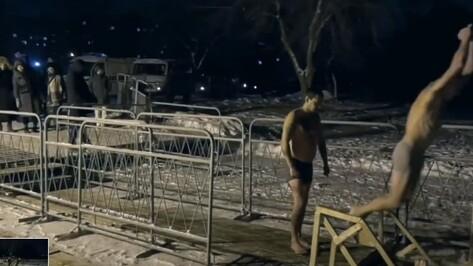 В Сети появилось видео опасного прыжка в воду на Крещение в Воронеже