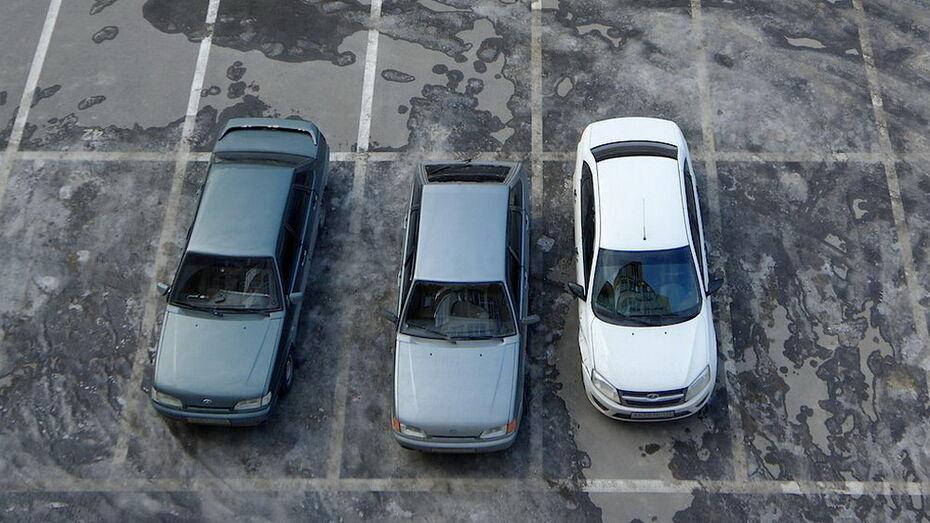 Удобство парковки во дворах воронежцы оценили на 3,2 балла из 5