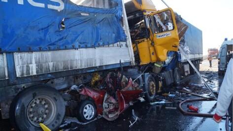 Воронежец выжил в ДТП с шестью машинами в Курской области