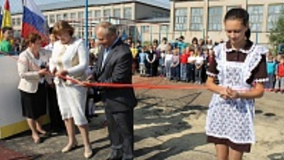 В Терновском районе открыли новую спортплощадку