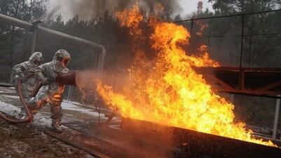 Пожары в Воронежской области