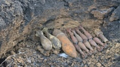 В Острогожском районе на полигоне уничтожили 35 снарядов времен войны