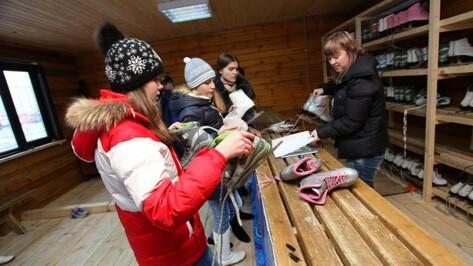Воронежцев бесплатно научат кататься на коньках