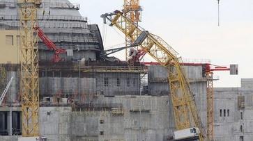 На Нововоронежской АЭС-2 упал башенный кран