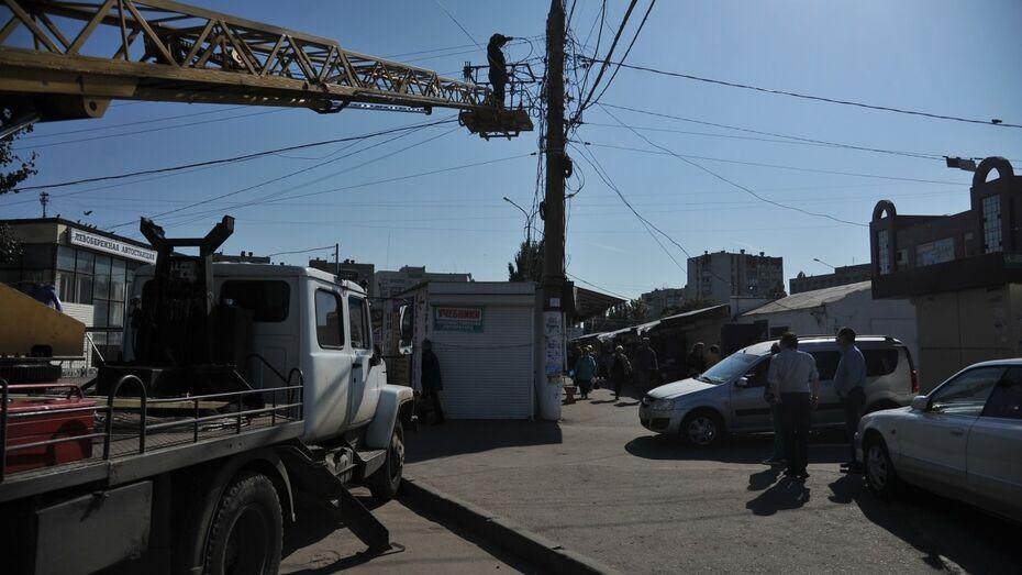 В Воронеже предприниматели снова помешали сносу мини-рынка на Димитрова