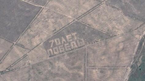 Добровольцев позвали на прополку воронежского геоглифа «70 лет Победы»
