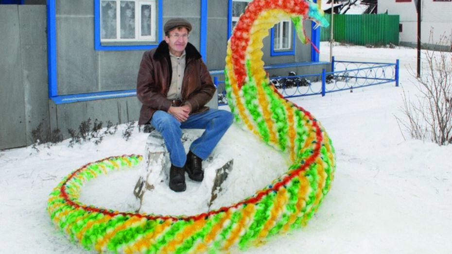 В Калаче появился снежный змей