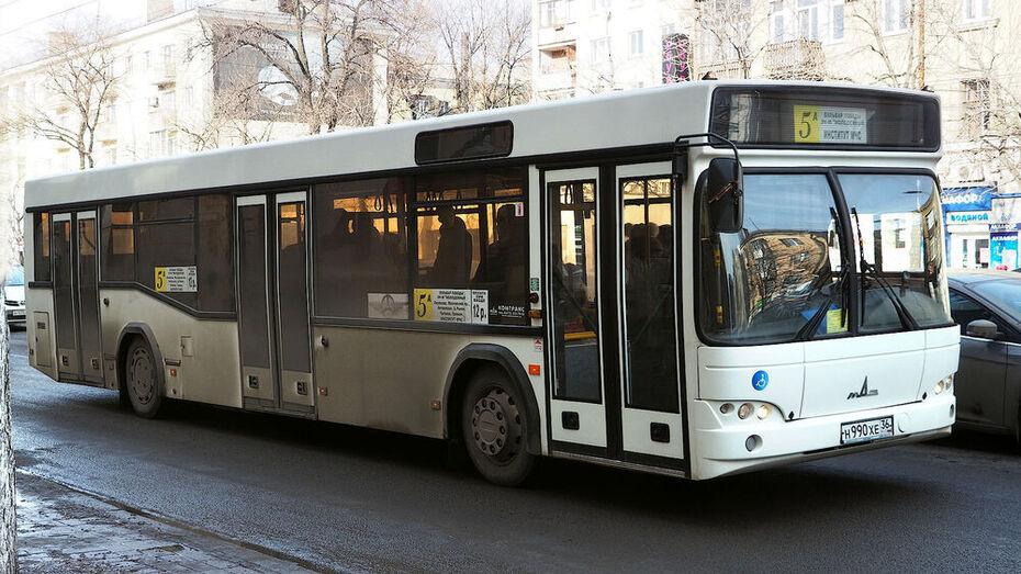 Маршруты 3 воронежских автобусов изменятся на время ремонта дороги у пивзавода