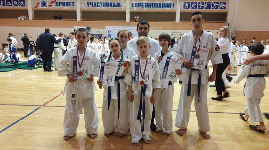 Верхнемамонские каратисты завоевали 2 «золота» открытого Кубка области