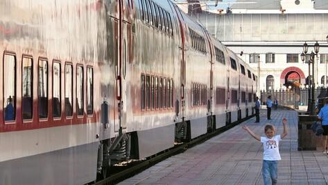 «РЖД» продемонстрировали первый двухэтажный поезд «Москва – Воронеж»