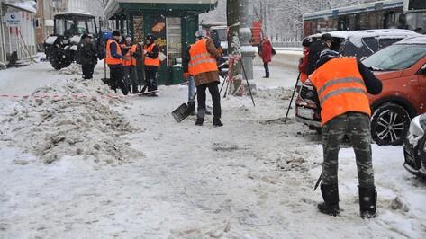С воронежских улиц вывезли 3,3 тыс кубометров снега в ночь на 1 марта