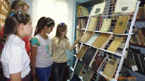 В Поворинской Центральной городской библиотеке открыли музей ретро-книги