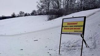 В Воронеже в новогодние праздники 11 человек пострадали при катании с горки в парке