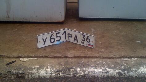 За кражу автомобильных номеров в Воронеже будут судить пару