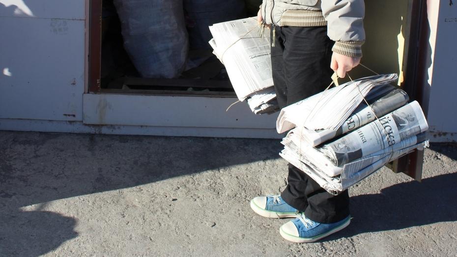 Юные воронежцы сдали на переработку 320 тонн мусора