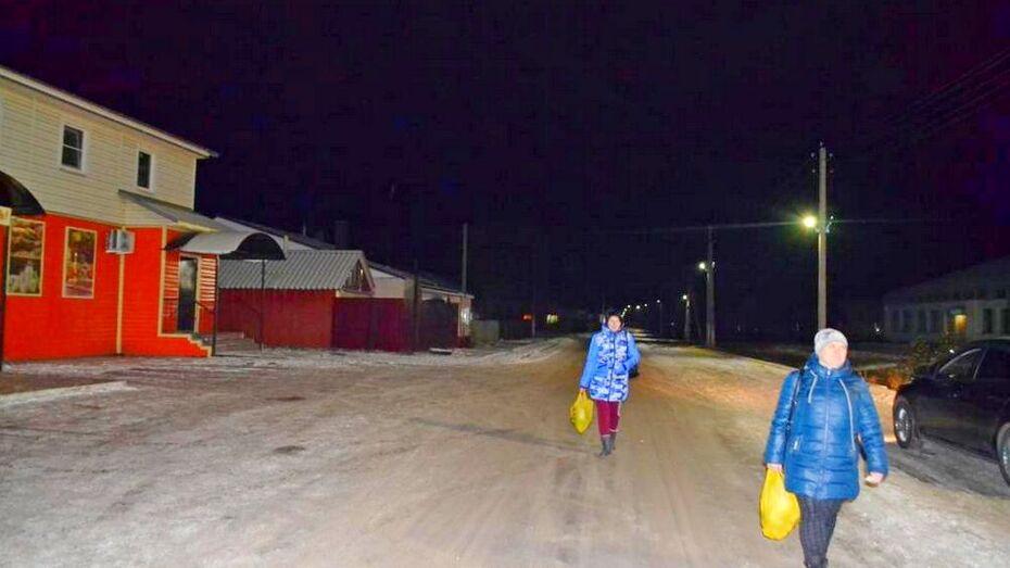 В нижнедевицком поселке Курбатово установили 24 фонаря