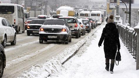 В Воронеж придет мощный снегопад с дождем
