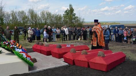 В Россошанском районе перезахоронили бойцов Красной Армии