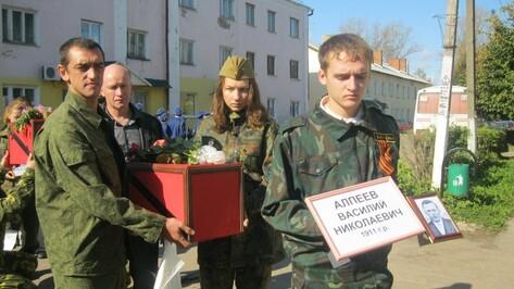 В Верхнемамонском районе обустроили могилу солдата Великой Отечественной войны