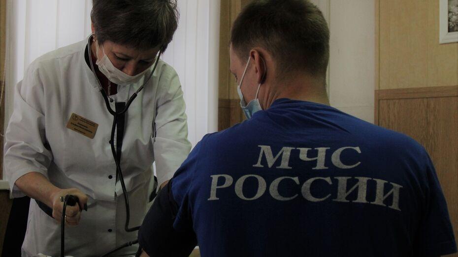Прививку от коронавируса сделали 70% спасателей в Воронежской области