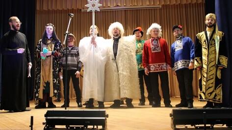 В Хохле впервые выступил мужской церковный хор из Воронежа