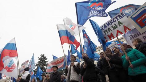 На митинг в честь Дня народного единства вышли 2 тыс воронежцев