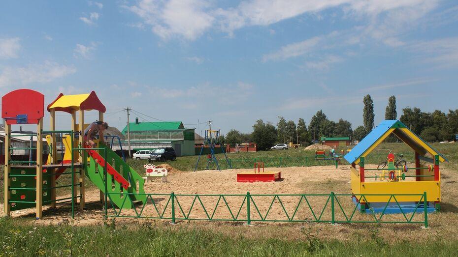 В Верхнехавском районе появятся 4 детские площадки