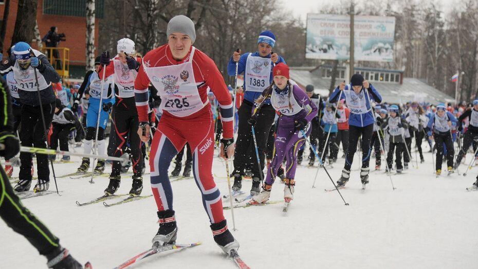 В Воронеже «Лыжня России-2016» стартовала на ледяной трассе