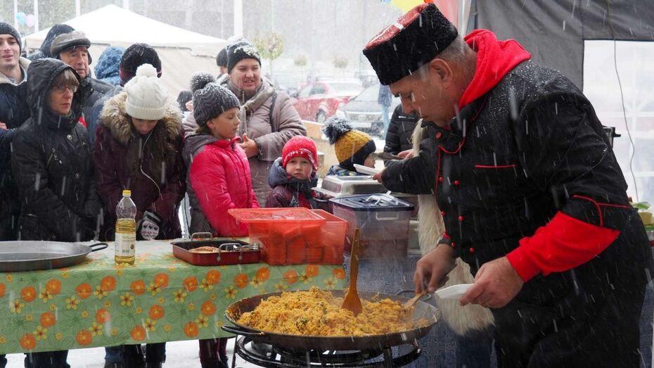 Из-за снега воронежский фестиваль национальной кухни лишился половины участников