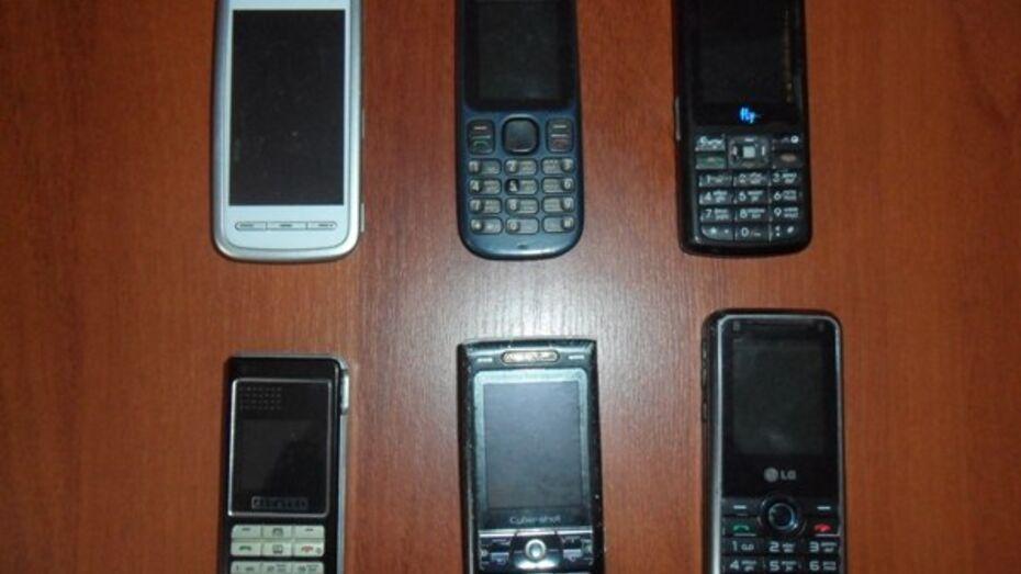В Воронежской области сотрудники ФСИН перехватили мобильники для заключенных