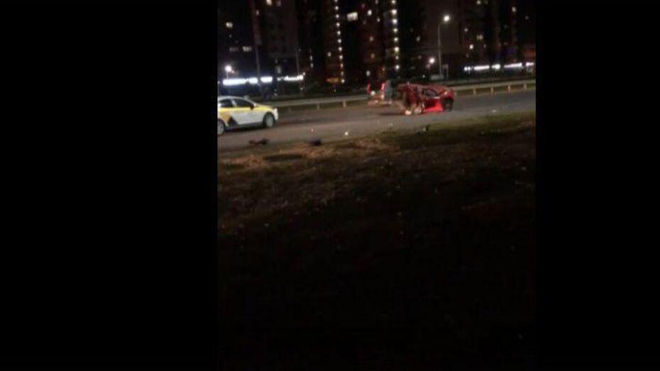 Видео: массовое ДТП с участием 5 машин случилось в Воронеже