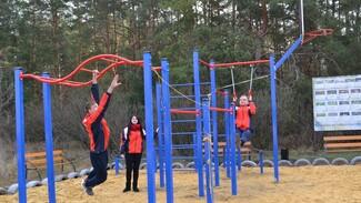 В Ольховатском районе на территории активного отдыха установили спорткомплекс