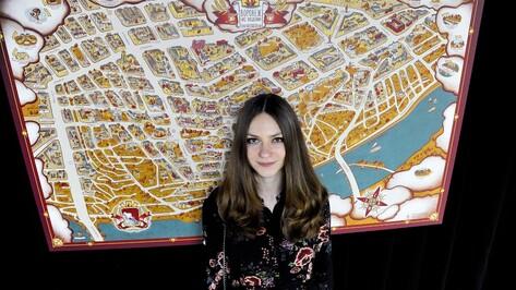 Художница Марина Демченко презентовала карту «Воронеж на ладони»