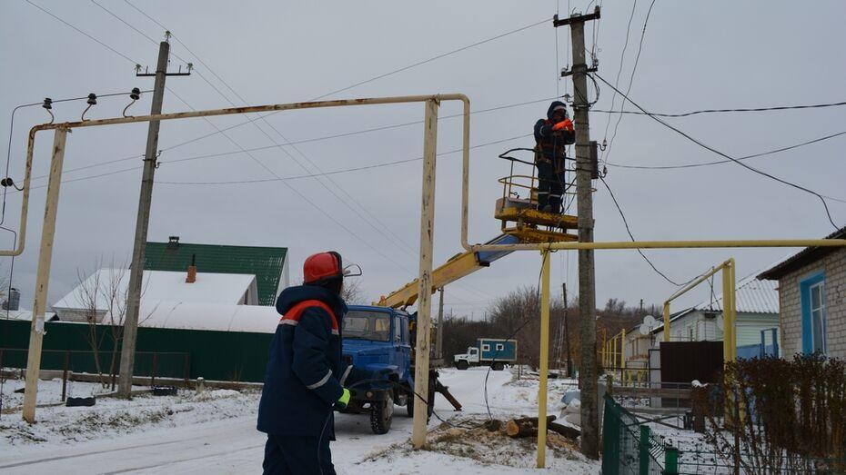 В селе Нижнедевицк на пяти улицах установили 27 фонарей
