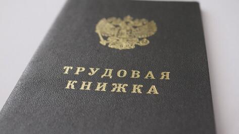 Электронную трудовую книжку вместо бумажной выбрали 65 тыс жителей Воронежской области