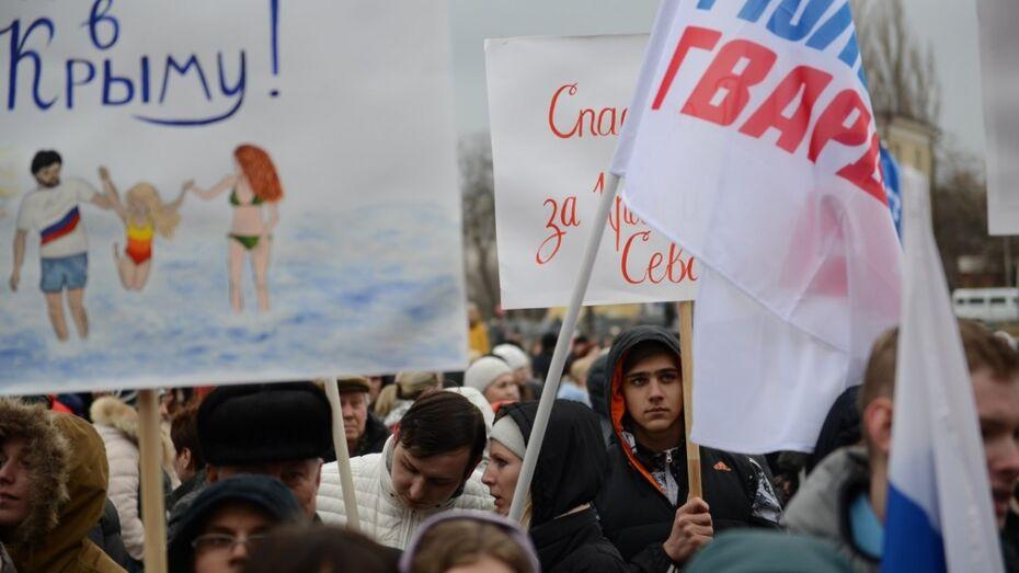 Митинг в честь присоединения Крыма собрал более 8 тыс воронежцев