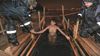 В Воронежской области на крещенских купаниях поработали 500 волонтеров