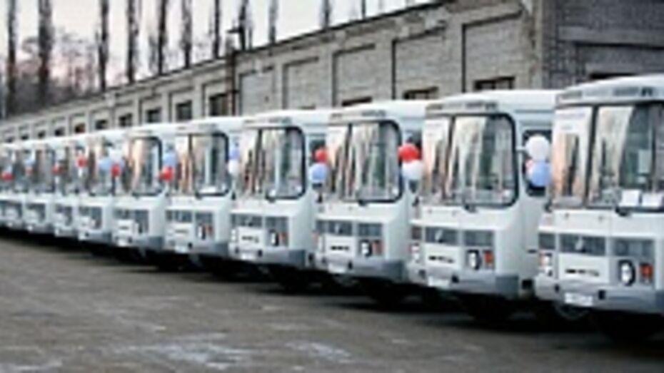 В районы Воронежской области отправились 40 новых автобусов