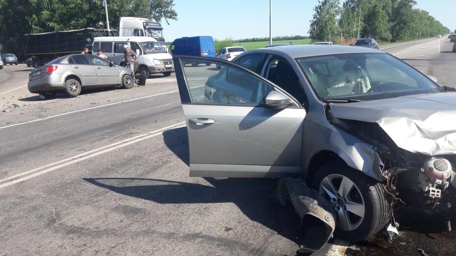 В ДТП под Воронежем пострадали 10-летняя девочка и мужчина