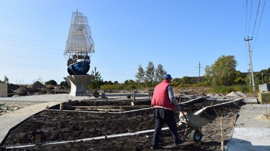 В Рамонском районе сделают зону отдыха у макета баркалону «Меркурий»