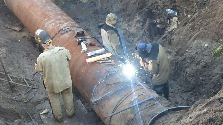 Устранение аварии трубопровода в Воронеже затянулось из-за просевшего грунта
