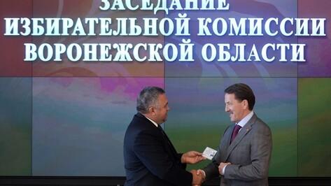 Алексей Гордеев получил удостоверение кандидата на пост губернатора Воронежской области