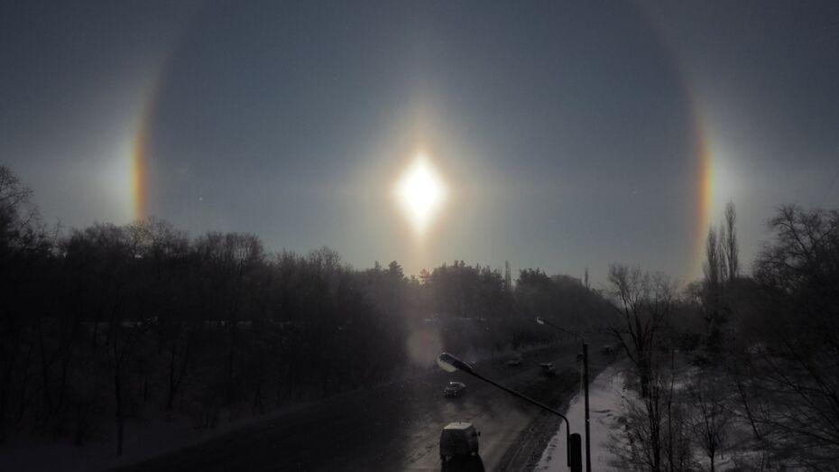 Горожане увидели гало над Воронежем