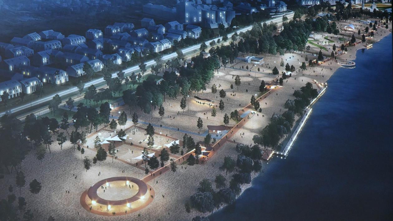 Скейт-парк, велотрек и гамаки у воды. Какой предлагают сделать Петровскую набережную Воронежа