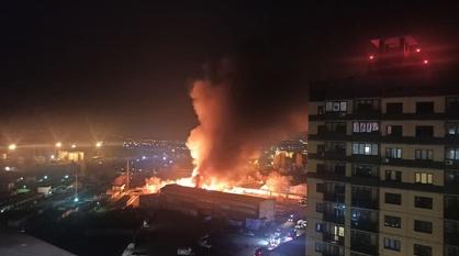 В Советском районе Воронежа загорелись склады