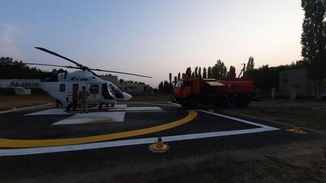 Медицинский вертолет совершил 15 экстренных вылетов с площадки под Бобровом
