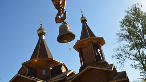 В Эртильском районе освятили колокола строящейся церкви
